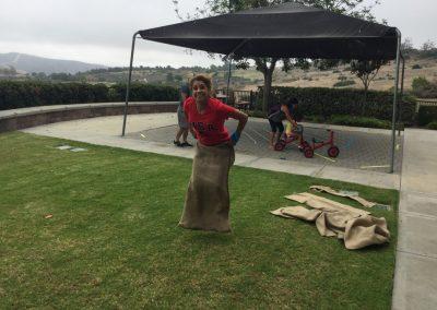 Potato Sack jump with Spirit at Holy Spirit church